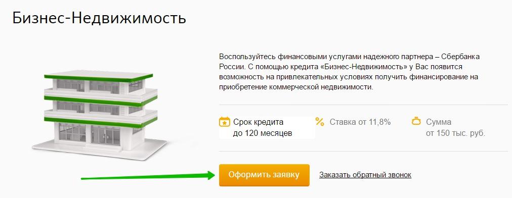 Подача онлайн-заявки на сайте Сбербанка